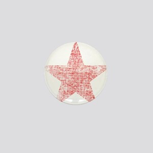 Faded Red Star Mini Button