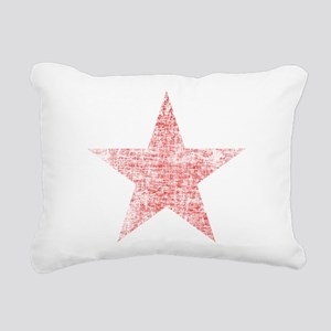 Faded Red Star Rectangular Canvas Pillow