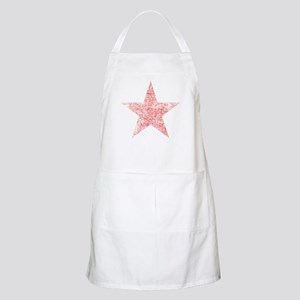 Faded Red Star Apron