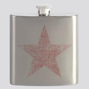 Faded Red Star Flask