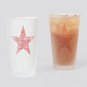 Faded Red Star Drinking Glass