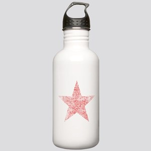 Faded Red Star Water Bottle