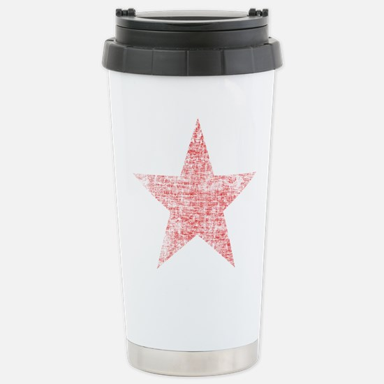 Faded Red Star Travel Mug
