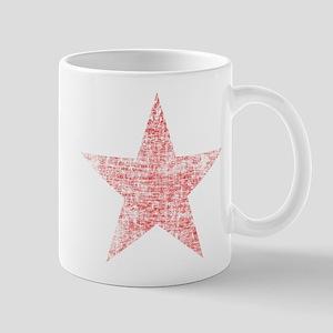 Faded Red Star Mug