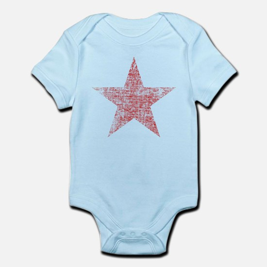 Faded Red Star Body Suit