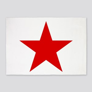 Red Star 5'x7'Area Rug