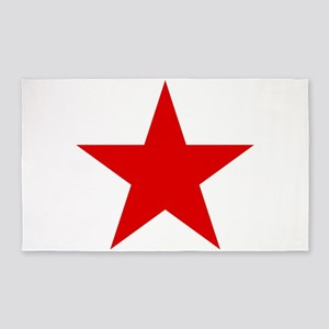 Red Star 3'x5' Area Rug