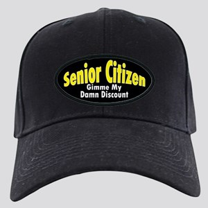 Senior Citizen Discount Black Cap
