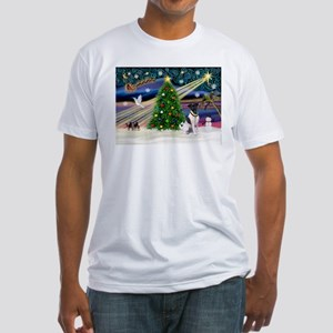 Xmas Magic & Fox T #1 Fitted T-Shirt