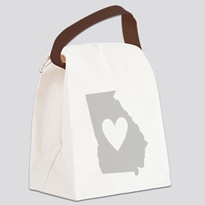 Heart Georgia Canvas Lunch Bag