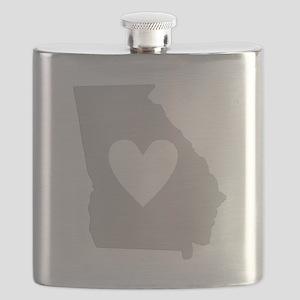 Heart Georgia Flask