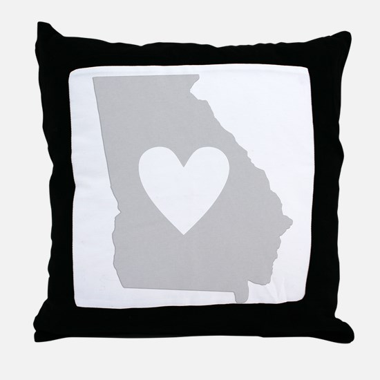 Heart Georgia Throw Pillow
