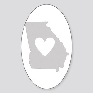 Heart Georgia Sticker (Oval)