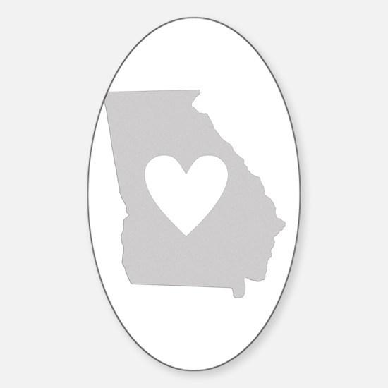 Heart Georgia Sticker (Oval)