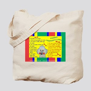 Poodle (White) Tote Bag