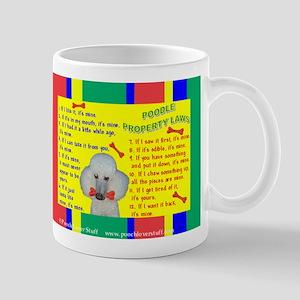 Poodle (White) Mug