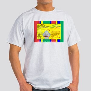 Poodle (White) Ash Grey T-Shirt