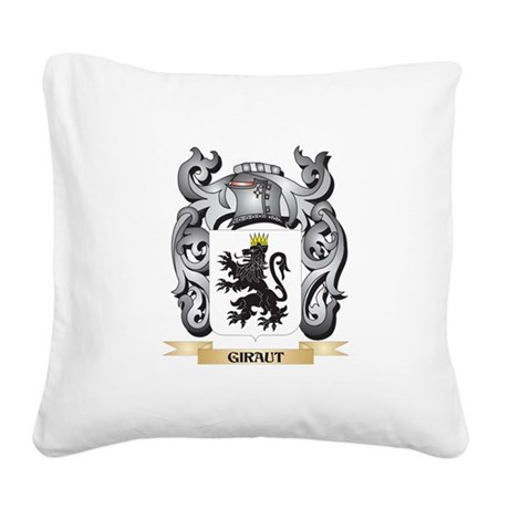 Giraut Coat of Arms - Family Square Canvas Pillow
