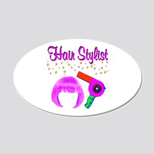 #1 HAIR STYLIST 20x12 Oval Wall Decal