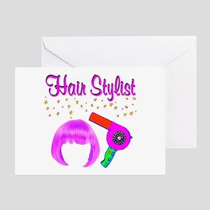 #1 HAIR STYLIST Greeting Card