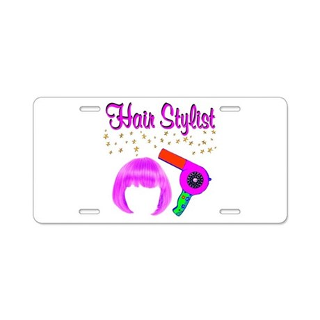 hair styling license 1 hair stylist aluminum license plate by jlpboutique 6599