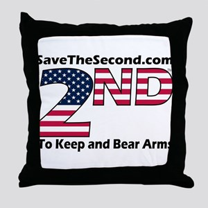 SaveTheSecond Throw Pillow