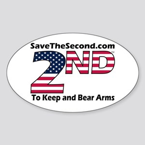 SaveTheSecond Oval Sticker