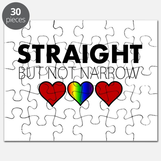 STRAIGHT but not narrow Puzzle