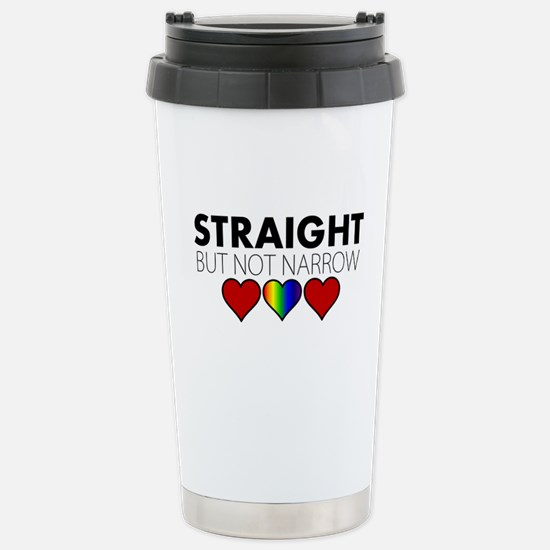 STRAIGHT but not narrow Stainless Steel Travel Mug