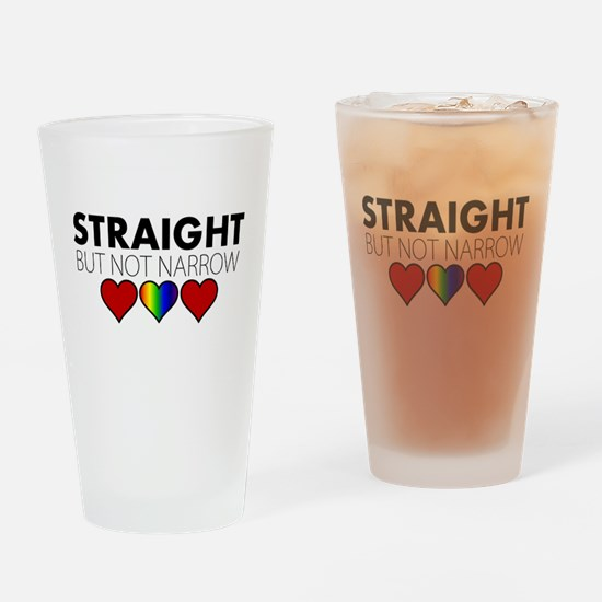 STRAIGHT but not narrow Drinking Glass