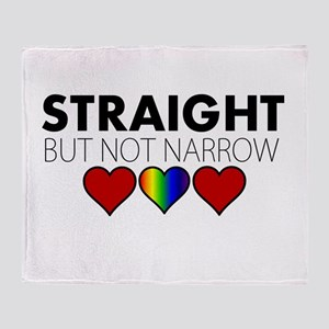STRAIGHT but not narrow Throw Blanket