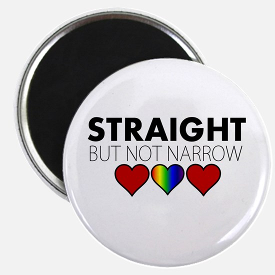 "STRAIGHT but not narrow 2.25"" Magnet (100 pack)"