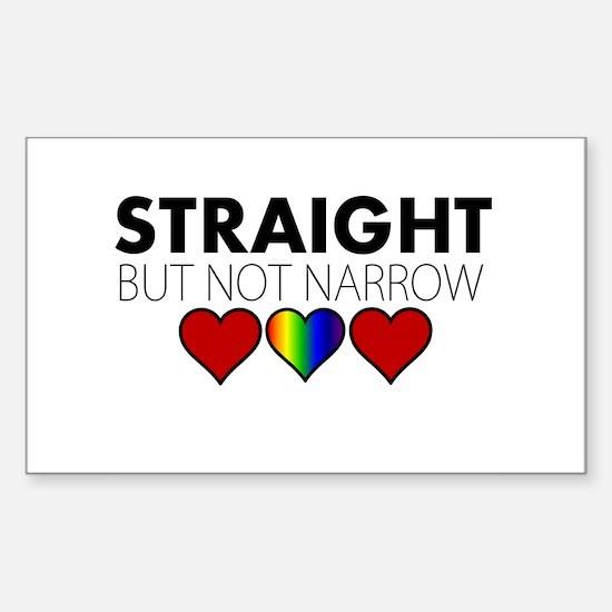 STRAIGHT but not narrow Sticker (Rectangle)