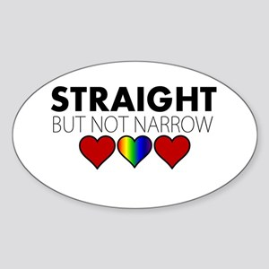 STRAIGHT but not narrow Sticker (Oval)