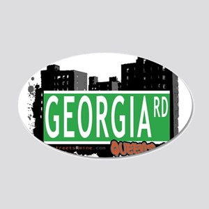GEORGIA ROAD, QUEENS, NYC 20x12 Oval Wall Decal