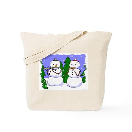 Flute & Piccolo Snowmen Tote Bag
