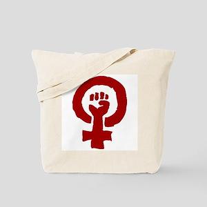 Red Feminist POWER! Tote Bag