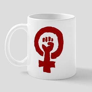 Red Feminist POWER! Mug
