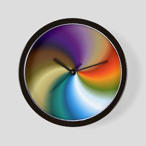 vivid-colored-spiral Wall Clock
