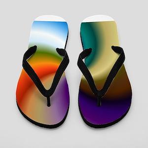 vivid-colored-spiral Flip Flops