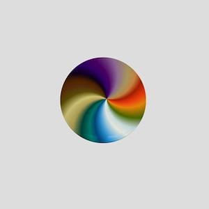 vivid-colored-spiral Mini Button