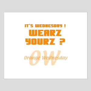 Orange Wednesday Small Poster