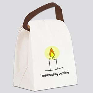 Reads Past Bedtime Canvas Lunch Bag