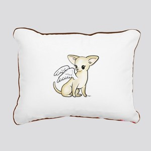 Tumbles Chihuahua Angel Rectangular Canvas Pillow