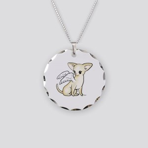 Tumbles Chihuahua Angel Necklace Circle Charm