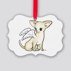 Tumbles Chihuahua Angel Picture Ornament