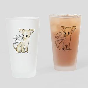 Tumbles Chihuahua Angel Drinking Glass