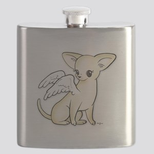 Tumbles Chihuahua Angel Flask