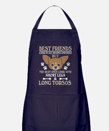 Best Friends Come In All Shapes And S Apron (dark)