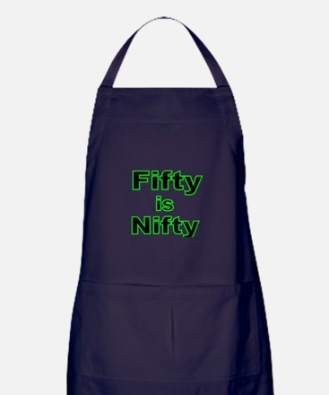 FIFTY IS NIFTY 2 Apron (dark)